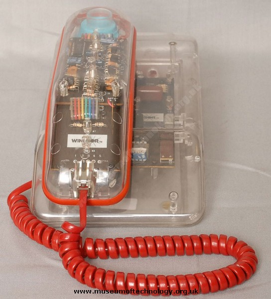 WINDSOR SEE THROUGH NOVELTY TELEPHONE, 1970's