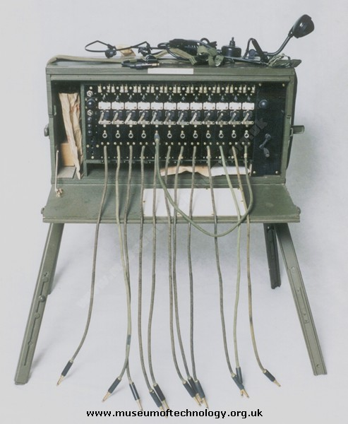 WWII  US ARMY FIELD TELEPHONE (SWITCHBOARD) EXCHANGE BD72