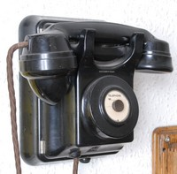 Image of SIEMENS RAILWAY WALL TELEPHONE, 1960's