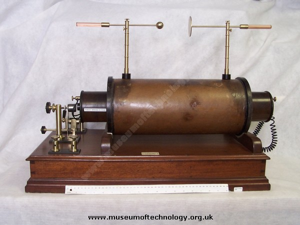 LARGE 18 INCH INDUCTION COIL, or RUHMKORFF COIL, 1900's