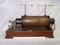 Image of LARGE 18 INCH INDUCTION COIL, or RUHMKORFF COIL, 1900's