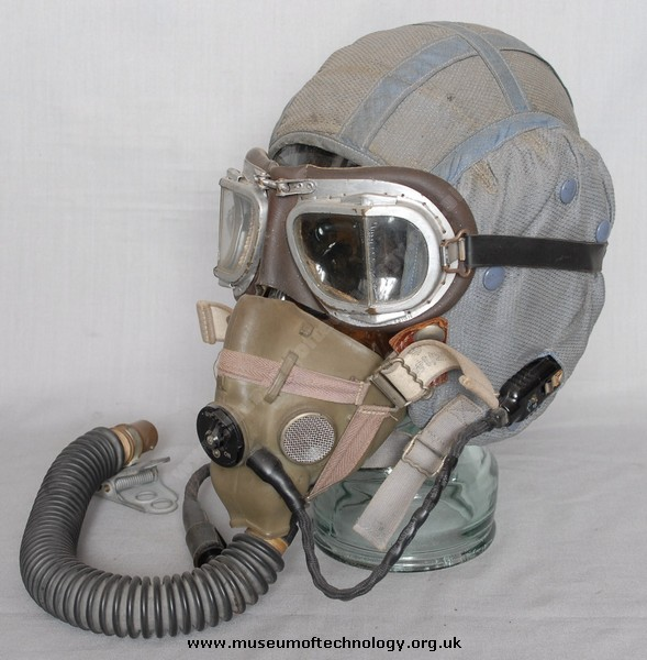 FLYING MASK 'H'  'G' HELMET AND GOGGLES, 1950's