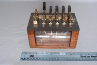 Image of CONDENSER BANK WITH KNIFE TUNING SWITCHES, 1920's