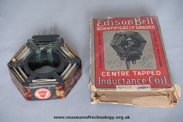EDISON AND BELL RADIO PLUG IN TUNING COIL, 1920's