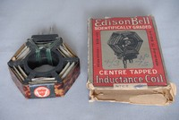 Image of EDISON AND BELL RADIO PLUG IN TUNING COIL, 1920's