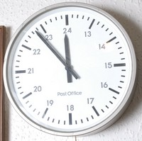 Image of PO WALL CLOCK, 1970's