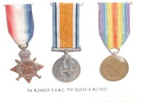 Image of WW1 MEDALS KNOWN AS 'PIP SQUEAK & WILFRED'