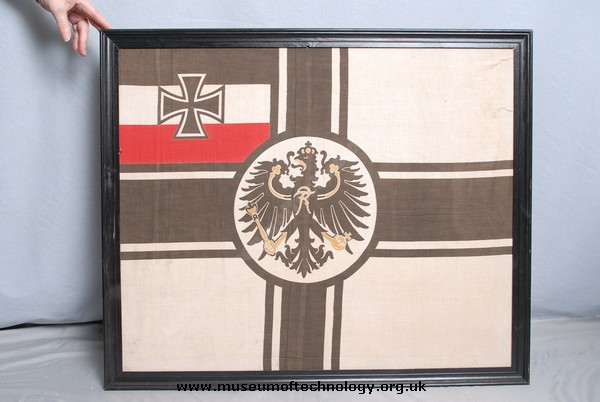 WW1  SMALL TOP FLAG FROM  'PRINZ EUGEN' BATTLESHIP, 1912