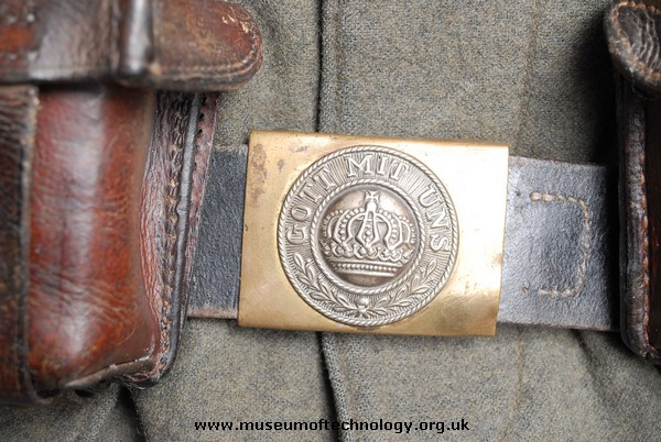 WW1 GERMAN LEATHER BELT AND BUCKLE 'GOTT MIT UNS'