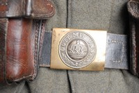 Image of WW1 GERMAN LEATHER BELT AND BUCKLE 'GOTT MIT UNS'