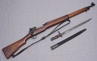 Image of WW1 LEE ENFIELD P14 RIFLE AND BAYONET, 1914