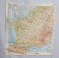 Image of WWII SILK MAP
