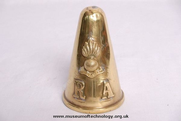 WWII  BRITISH SHELL FUZE (FUSE) COVER