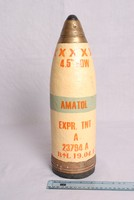 Image of WW1 HOWITZER 4.5 PROJECTILE WITH No101 FUZE (FUSE)