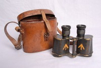 Image of WWI BINOCULARS AND CASE