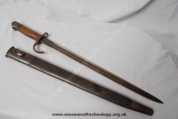 WWI  BAYONET WITH QUILLON FOR THE LEE ENFIELD MK 3, 1907