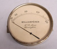 Image of WR MORRIS HOT WIRE AMMETER, 1930's