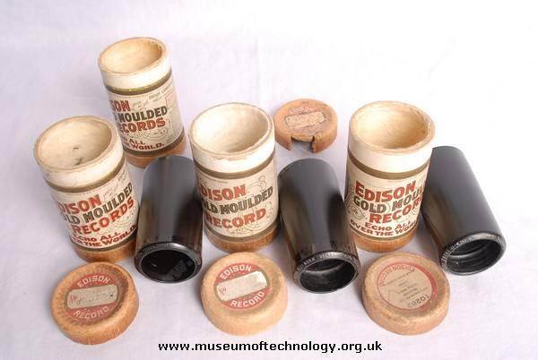 WAX CYLINDERS (GOLD TYPE), 1920's