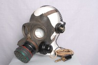 Image of WWII GAS MASK (RESPIRATOR)  WITH MICROPHONE, 1938