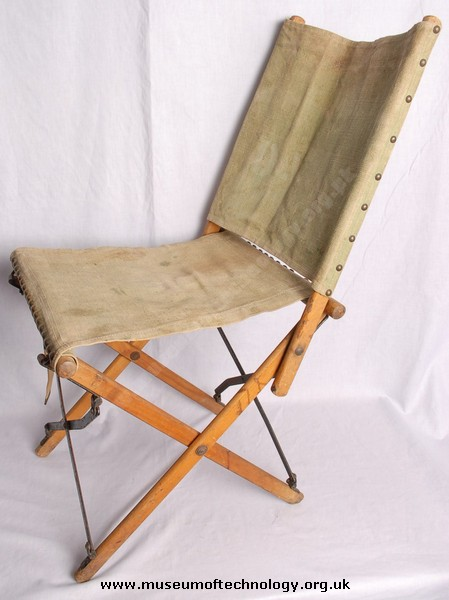 WWII CANVAS FOLDING  CHAIR