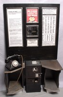 Image of A &  B KIOSK BOX  BACK BOARD AND TELEPHONE, 1940's