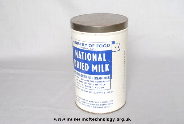 DRIED MILK TIN, 1940's