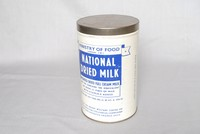 Image of DRIED MILK TIN, 1940's