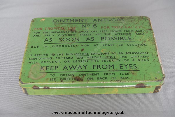 WWII ANTI GAS OINTMENT No 6