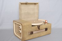 Image of RUCO PORTABLE RECORD PLAYER, 1950's