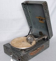 Image of COLUMBIA STEEL PORTABLE GRAMOPHONE, 1930's