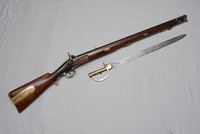 Image of BRITISH BRUNSWICK TWO GROOVE RIFLE/MUSKET, 1830's