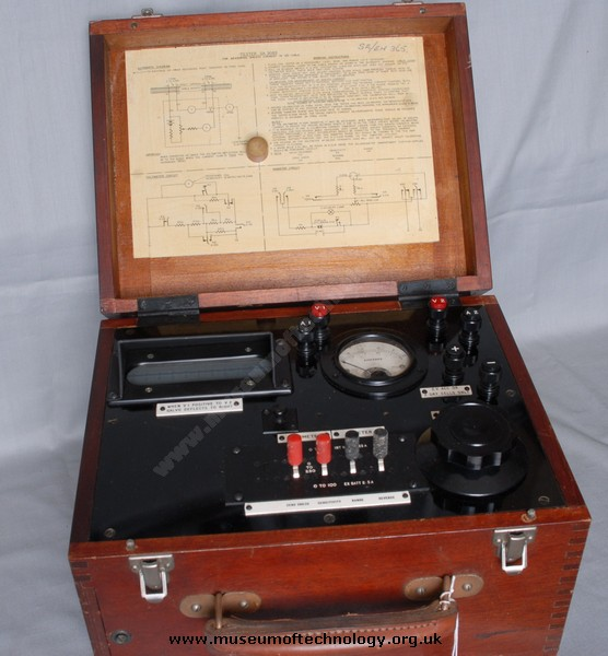 SHEATH CURRENT TESTER, 1930's