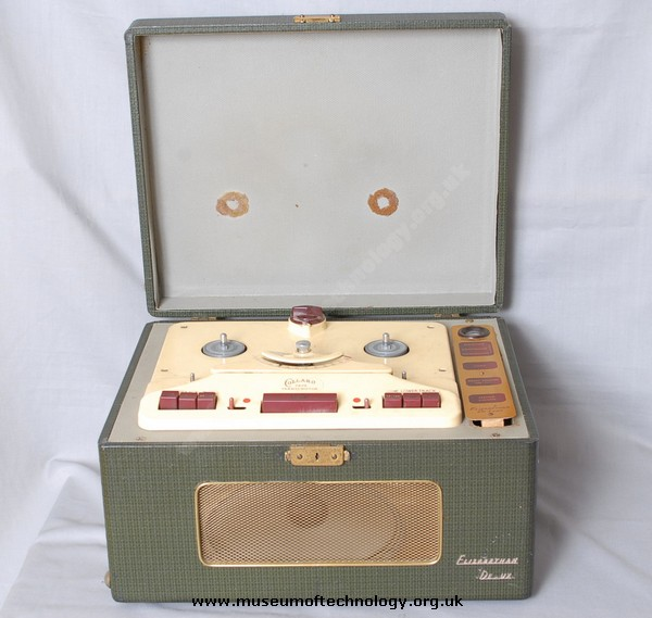 ELIZABETHAN TAPE RECORDER DELUX WITH COLLARO DECK, 1961