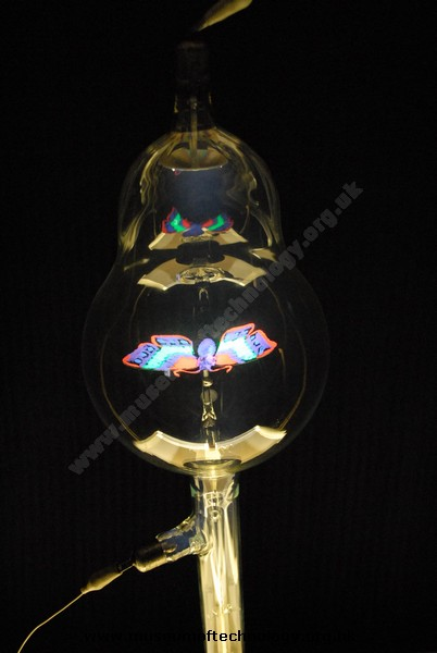 CROOKES TUBE WITH BUTTERFLY, 1900's