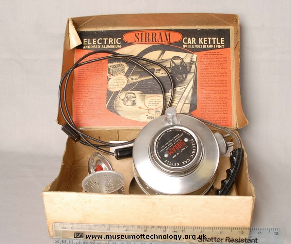 SIRRAM  ELECTRIC CAR KETTLE, 1950's