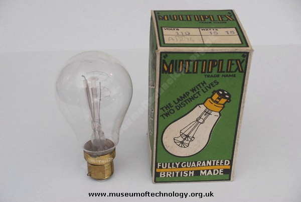 DUAL FILAMENT LIGHT BULB 115 VOLT, 1920