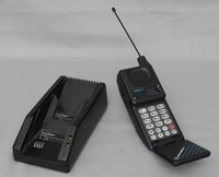 Image of MOTOROLA MICRO TAC 9800X FLIP TOP MOBILE PHONE, 1991