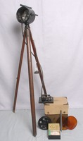 Image of WW1 SIGNAL LAMP LONG RANGE AND HELIOS TRIPOD
