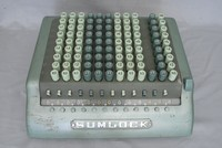 Image of SUMLOCK COMPTOMETER CALCULATOR MODEL 912/S , 1960's