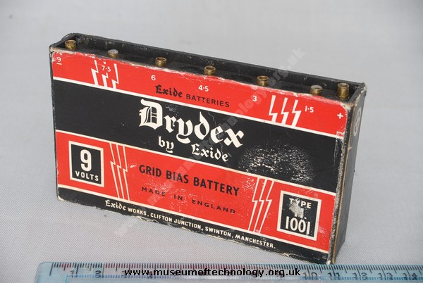 DRYDEX TYPE 1001 GRID BIAS BATTERY, 1940's