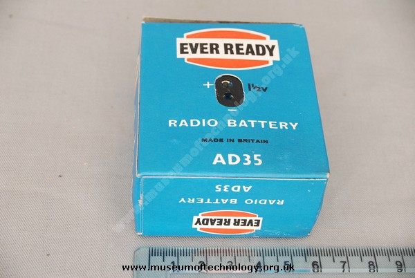 EVER READY AD35 RADIO BATTERY, 1950's