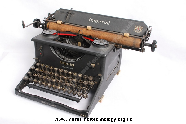 IMPERIAL TYPEWRITER WITH WAR FINISH 1940's