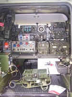 Image of MILITARY COMMUNICATIONS LAND ROVER 90 (internal view), 1986