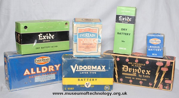 A SELECTION OF EARLY BATTERIES, 1940's